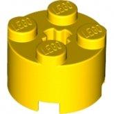 LEGO Brick 2x2 Round YELLOW (100 pcs)