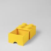 LEGO Steen Opberglade 4 GEEL