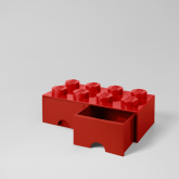 LEGO Steen Opberglade 8 ROOD