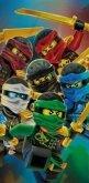 LEGO Strandlaken Ninjago 6 Ninja's met Gouden Zwaarden