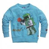 LEGO Sweater Boba Fett BLAUW (Simon 320 Maat 104)