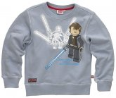 LEGO Sweatshirt Grevious VS Skywalker GRIJS (Silas 110 Maat 146)