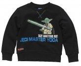 LEGO Sweatshirt Yoda ZWART (Silas 621 Maat 146)