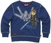 LEGO Sweatshirt Grevious VS Skywalker BLAUW (Silas 110 Maat 146)
