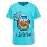 LEGO T-Shirt BLAUW (M-72494 Maat 122)