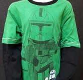LEGO Star Wars T-Shirt Captain Rex DARK GREEN (Tel 961 - Size 14