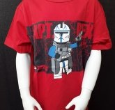LEGO T-Shirt Captain Rex ROOD (Tom 110 Maat 146)