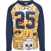 LEGO T-Shirt DONKERBLAUW (Teo 626 Maat 140)