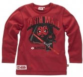 LEGO T-Shirt Darth Maul DONKERROOD (Tel 962 Maat 104)