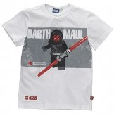 LEGO T-Shirt Darth Maul WIT (Tom 110 Maat 134)