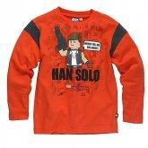 LEGO T-Shirt Han Solo ORANJEROOD (Terry 121 Maat 128)