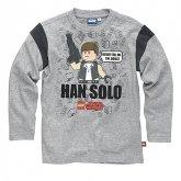 LEGO T-Shirt Han Solo GRIJS (Terry 121 Maat 128)