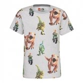 LEGO T-Shirt Jurassic World LICHTGRIJS (CM-50290 - Maat 134)