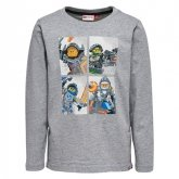 LEGO T-Shirt Nexo Knights LICHTGRIJS (Tony 808 Maat 122)