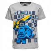 LEGO T-Shirt Nexo Knights LICHTGRIJS (M-70856 Maat 128)