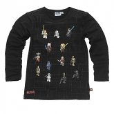 LEGO T-Shirt Star Wars Minifiguren ZWART (Terry 320 Maat 104)