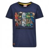LEGO T-Shirt Ninjago DONKERBLAUW (Teo 101 Maat 134)