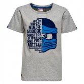 LEGO T-Shirt Ninjago LICHTGRIJS (Teo 102 Maat 128)