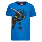 LEGO T-Shirt Ninjago BLAUW (Teo 314 Maat 104)