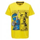 LEGO T-Shirt Ninjago GEEL (M-72509 Maat 134)