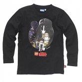LEGO T-Shirt Star Wars Heroes ZWART (Terry 122 Maat 122)