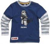 LEGO T-Shirt Stormtrooper BLAUW (Tom 113 Maat 146)