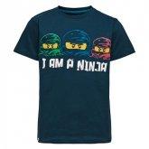 LEGO T-shirt DONKERBLAUW (M-72163 Maat 122)