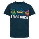 LEGO T-shirt DONKERBLAUW (M-72163 Maat 140)