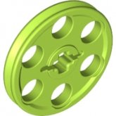 LEGO Technical Wheel 3x3 LIMEGROEN (100 pcs)