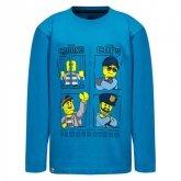 LEGO T-shirt BLAUW (M-72213 Maat 128)