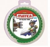 MAYKA Toy Block Tape 2-nop 1 meter GROEN