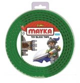 MAYKA Toy Block Tape 4-nop 2 meter GROEN