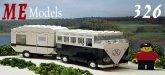ME Models 326 VW Bus met Caravan ZWART