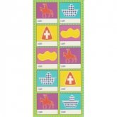 Stickervel Sinterklaas Labels GROEN