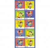 Stickervel Sinterklaas Labels PAARS
