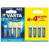 VARTA Alkaline Batterij AAA (4+4 Gratis)