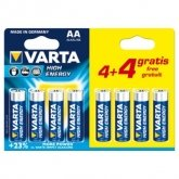 VARTA Alkaline Battery AA (4+4 Free)