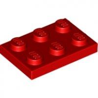LEGO Plaat 2x3 ROOD (100 stuks)
