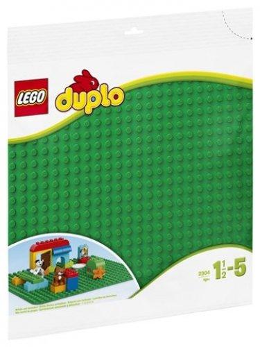 LEGO DUPLO @@ PLAQUE 4672 @@ PLATE 4 X 8 TENONS @@ VERT CLAIR BRIGHT GREEN