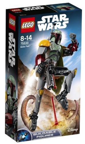 LEGO Minifigure Star Wars Jango Fett with Base Helmet Jetpack Blaster