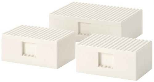 IKEA BYGGLEK LEGO Opbergbox (Set van 3)