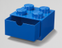 LEGO Desk Drawer 4 Knops BLUE