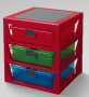 LEGO Iconic 3-Drawer Rack RED