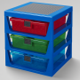 LEGO Iconic 3-Drawer Rack BLUE