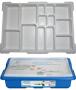 LEGO Opbergbox met Sorteertray Small BLAUW